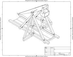 Trebuchet Catapult Design Plans Design And Analysis Diy Kits Wooden Model Kits How To Plan