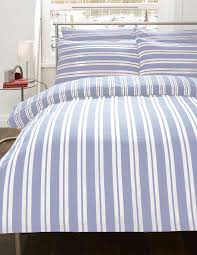 blue and white striped sheet set