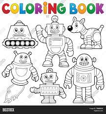 coloring book robot fresh coloring book robot vector free trial