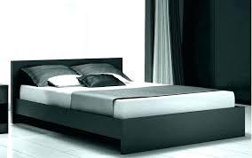 Black Platform Bed Frame Furniture Low Flat Platform Bed Frame King ...