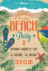 Beach Flyer Beach Party Flyer Psd Template By Elegantflyer