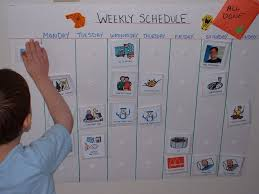 Make A School Timetable Online Free Weekly Schedule Using Laminated Pecs Pics You Can Find Many Free