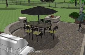 Small Picture Arcs and Rectangles Patio Design with Seat Wall MyPatioDesigncom