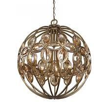 8 light gold sphere chandelier for modern living room lighting docoration