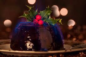 Epicurus.com Recipes   Baked Christmas Pudding with Brandy Sauce