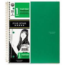 Five Star Quad Wirebound Notebook 1 Subject 100 Ct 43100061908