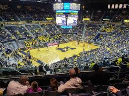 Crisler Center Section 209 Home Of Michigan Wolverines
