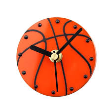 hot wall clock 3d creative sports basketball refrigerator bell magnetic wall clock mute direct suction on the fridge clo french wall clocks fun wall