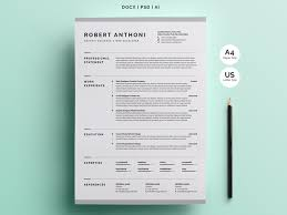 Modern Resume Templete Creative Resume Cv Template By White Graphic On Dribbble
