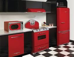kitchen black and red kitchen decor ideas with checkerboard flooring kitchen decor red and