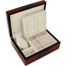 wooden watch storage boxes for men women watcho uk orbit cufflink box red and black wood finish