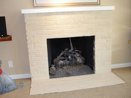splendid image painting a brick fireplace how to painting a brick fireplace outdoor home designs in