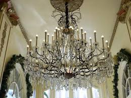 le pavillon hotel one of the lobby chandeliers
