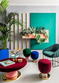 good interior office interior decoration. bright colours and geometric forms used by the 1980s memphis group influenced interior design of good office decoration
