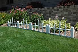 marvelous flower bed fence ideas 37 white garden border fencing picket wall