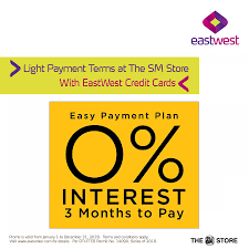 For example, secured credit cards and regular credit cards with low income requirement don't require a deposit account with the bank. Eastwest Bank On Twitter Shop All You Want At The Sm Store And Enjoy Light Payment Terms With Your Eastwest Credit Card Avail Of 0 Interest On Installment For 3 Months For