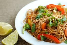 quick veggie stir fry with noodles