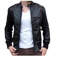 this vintage 1970 s style leather jacket shows no sign of modern high street black leather with ribbed cotton cuffs and hem lower zip front pockets