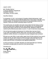 Complain Business Letter 23 Complaint Letters In Pdf