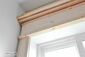 window header in place make a farmhouse window add window trim to beef up