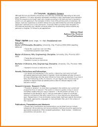 7 Academic Resume Template Quit Job Letter