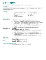 Resume Template Sample Social Work Resume Free Resume Template