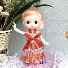 Đồ chơi búp bê Barbie 17cm mắt kiểu 3d sống động như thật dễ thương xinh  xắn chính hãng 153,200đ