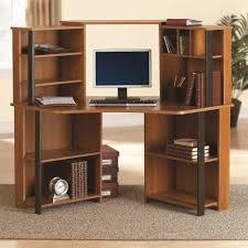 alluring corner computer desk with printer shelf by picture storage