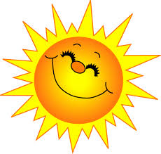Image result for smiley sun clipart