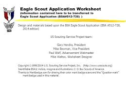 Eagle Scout Requirements Worksheet Worksheets for all | Download ...