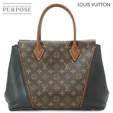louis vuitton louis vuitton monogram thoth w pm tote bag leather brown black m40942 used brand