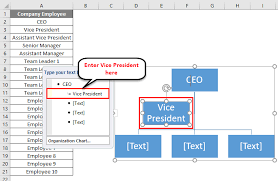 Organization Chart In Excel How To Create Excel