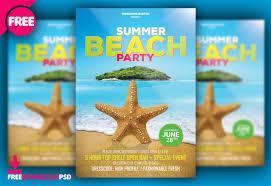 Beach Summer Party Flyer Psd Template Freedownloadpsd Com