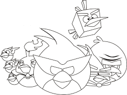 Small Picture Angry Birds Printable Coloring Pages Free Printable Angry Bird