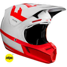 Details About Fox Racing V3 Preest Limited Edition Mx Offroad Helmet White Red