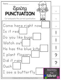 Hands-on, fun, and effective spring printables! Spring punctuation ...