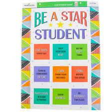 Star Student Chart Renewing Minds Be A Star Student Motivational Chart 17 X
