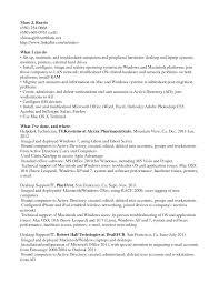 Desktop Support Resume Sample Resume For Your Job Application