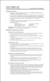Best Lpn Sample Resume Nursing Home Contemporary Entry Level