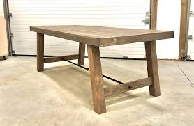 4x4 leg industrial farmhouse table