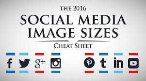 facebook icon size 2016 social media image dimensions size guide facebook twitter