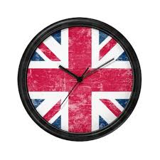 union jack design novelty wall clock