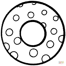 English Alphabet With Polka Dot Pattern Coloring Pages Free