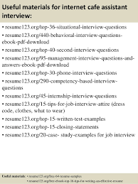 Cafe Attendant Sample Resume Amazing Top 48 Internet Cafe Assistant Resume Samples