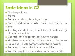 C3 Summary The periodic Table - ppt video online download