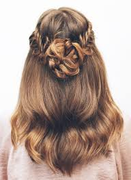 Flower Hair Style introducing hair tutorials for thicker hair braids can help 7972 by wearticles.com