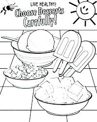 Healthy And Unhealthy Food Coloring Pages Junk Food Coloring Pages