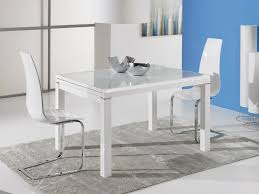 ideal sedia orlando modern extending dining table in white high gloss with a white frosted glass