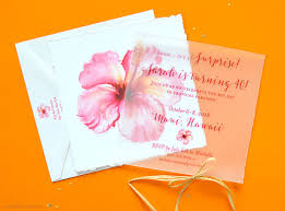 Tropical Party Invitations Tropical Flower Party Invitations