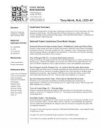 Architecture Resume Examples System Architect Resume Examples Adorable Landscape Architecture 13